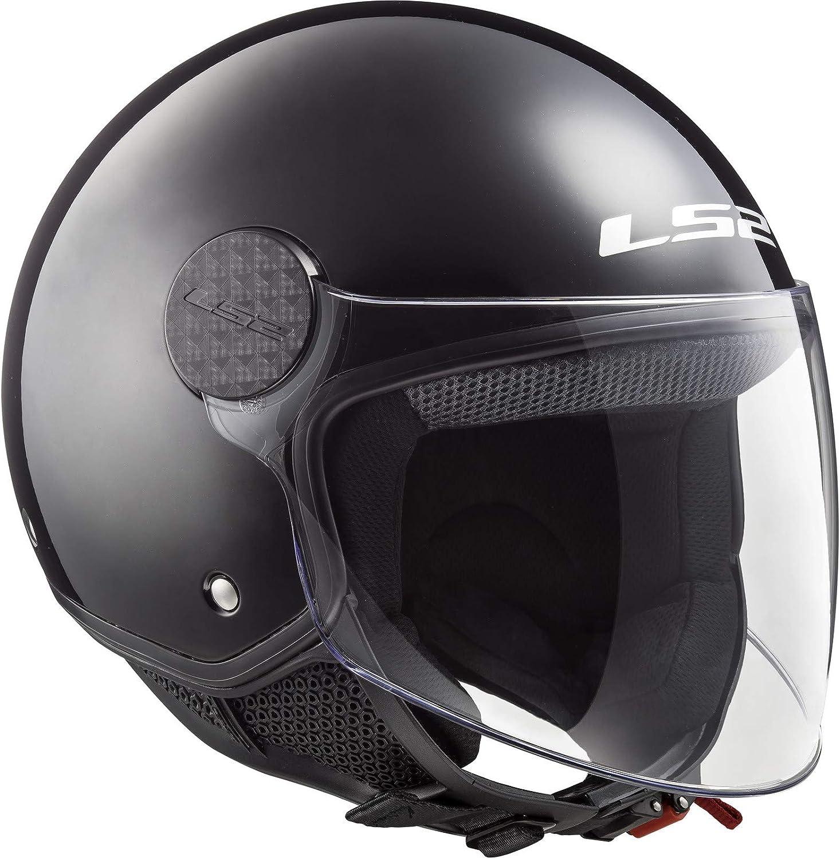 LS2 Jet Helmet Sphere Black Varnish Size XL