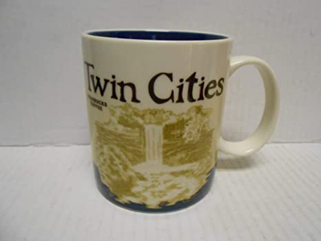 Starbucks Global Icon Collector Series 16 Oz Coffee Mug Cup Twin Cities Minneapolis St Paul Minnesota