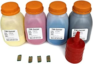 Compatible 4 Color Toner refill with Chips for use in Dell H625cdw H825cdw S2825cdn printer