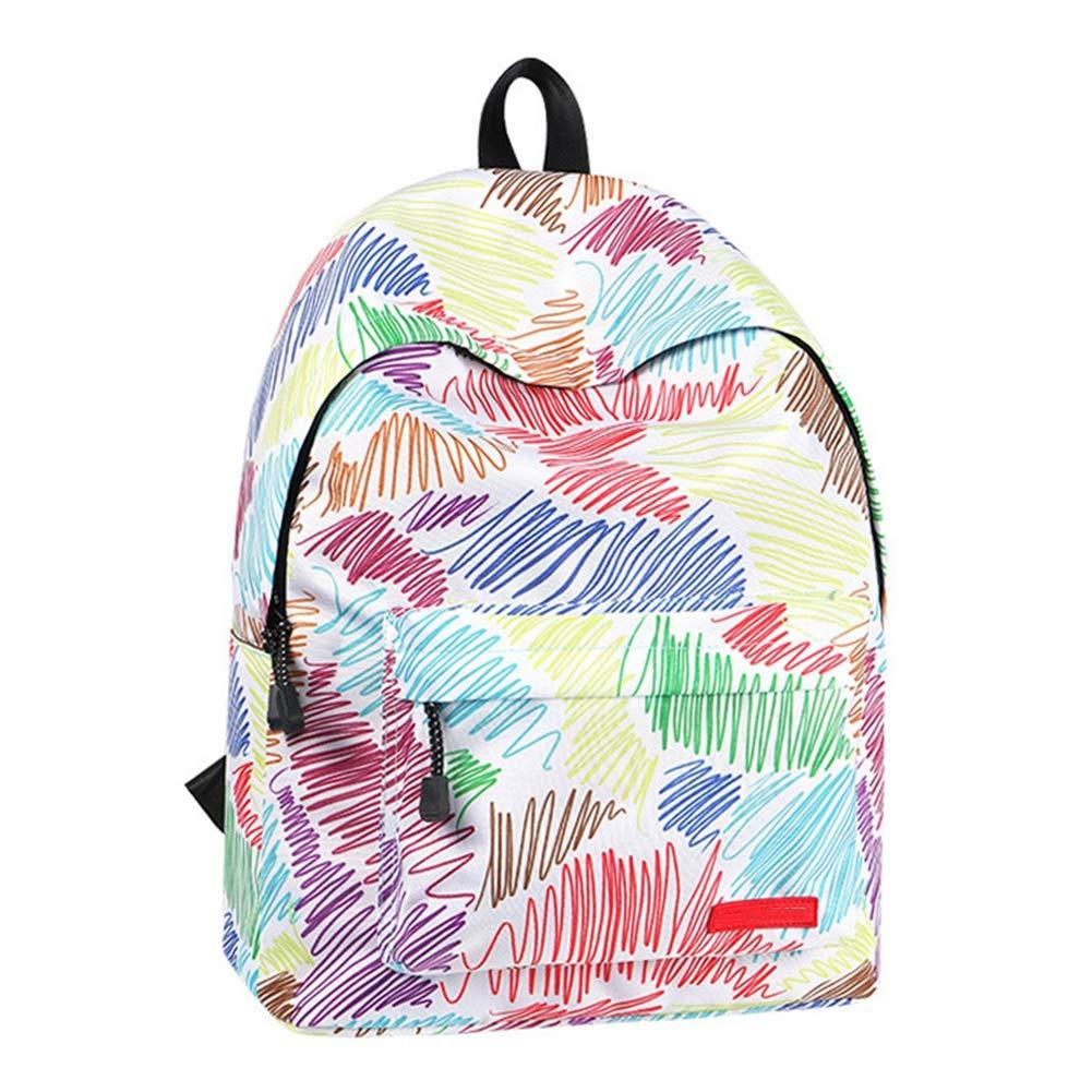 ATI HW School Bags Color Graffiti Unisex Oxford Fabric Traveling Rucksack for Travel//Business//College//Women//Men-Black