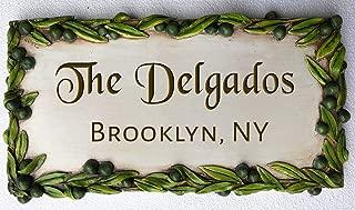product image for Piazza Pisano Olive Decor Custom Address Sign
