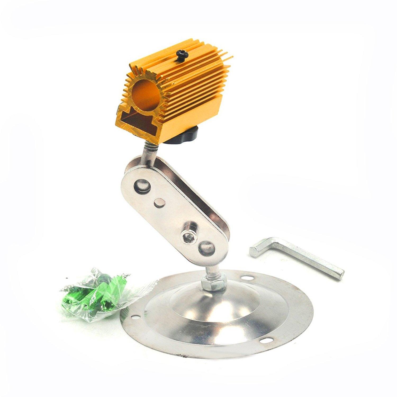 Golden Cooling Heatsink 20x27x50mm with Adjustable Holder/Mount for 12mm Laser Diode Module