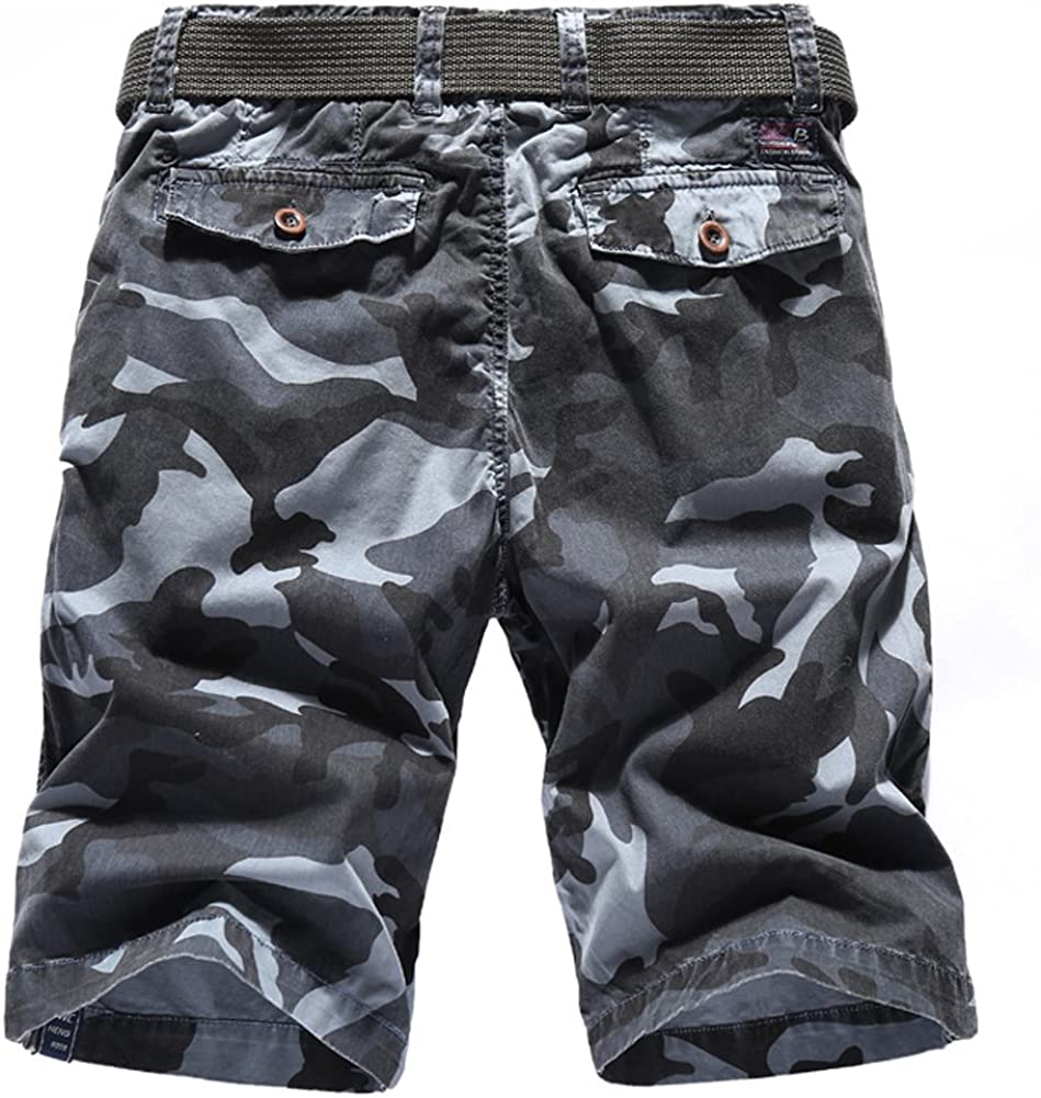 LIYT Mens Casual Summer Straight Cotton Multicolor Camouflage Shorts