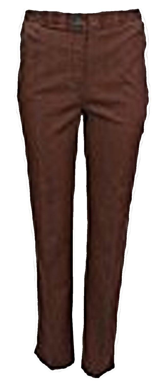 O12 CelebModeLook ® Womens Elasticated Waist Mock Denim Stitched Plus Size Ladies Trouser Pants