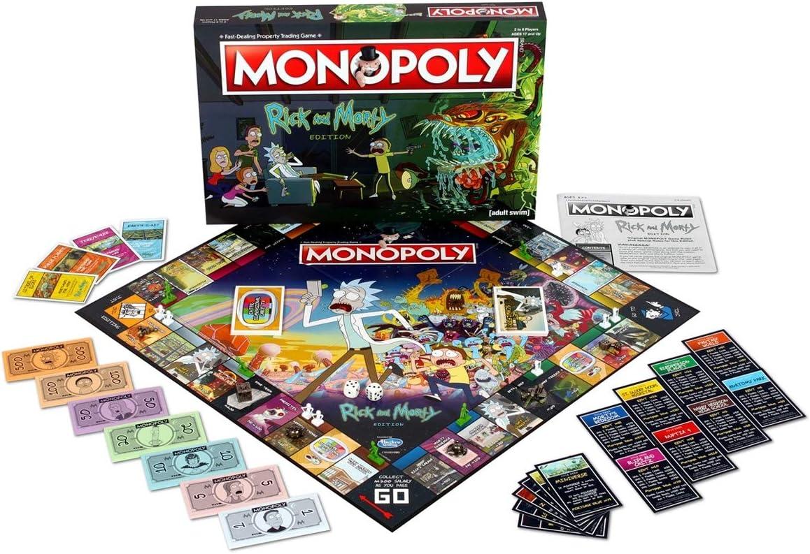 Rick /& Morty Monopoly Board Game