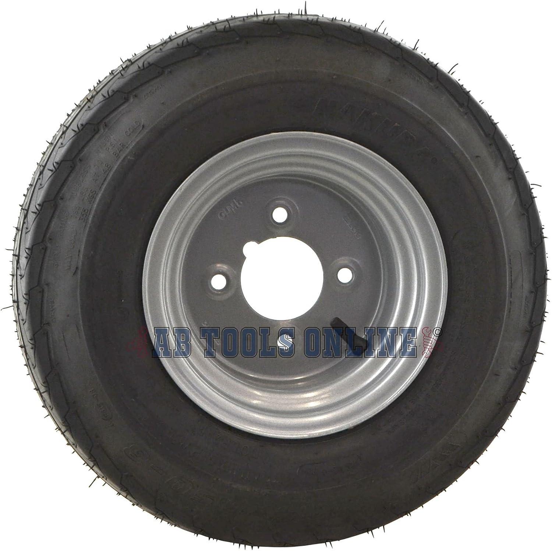 "16.5//6.50-8 Trailer Tyre Wheel Rim 4/"" PCD 6PLY 4 Stud 73M TRSP27"