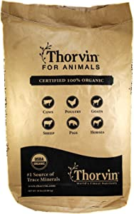 Thorvin Organic Icelandic Kelp Meal - Loaded With Nutrients That Support Your Livestock Or Pet & A Natural Seaweed Fertilizer For Plants, 50lbs.