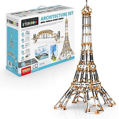 STEM Architecture Set: Eiffel Tower and Sydney Bridge: Toys & Games