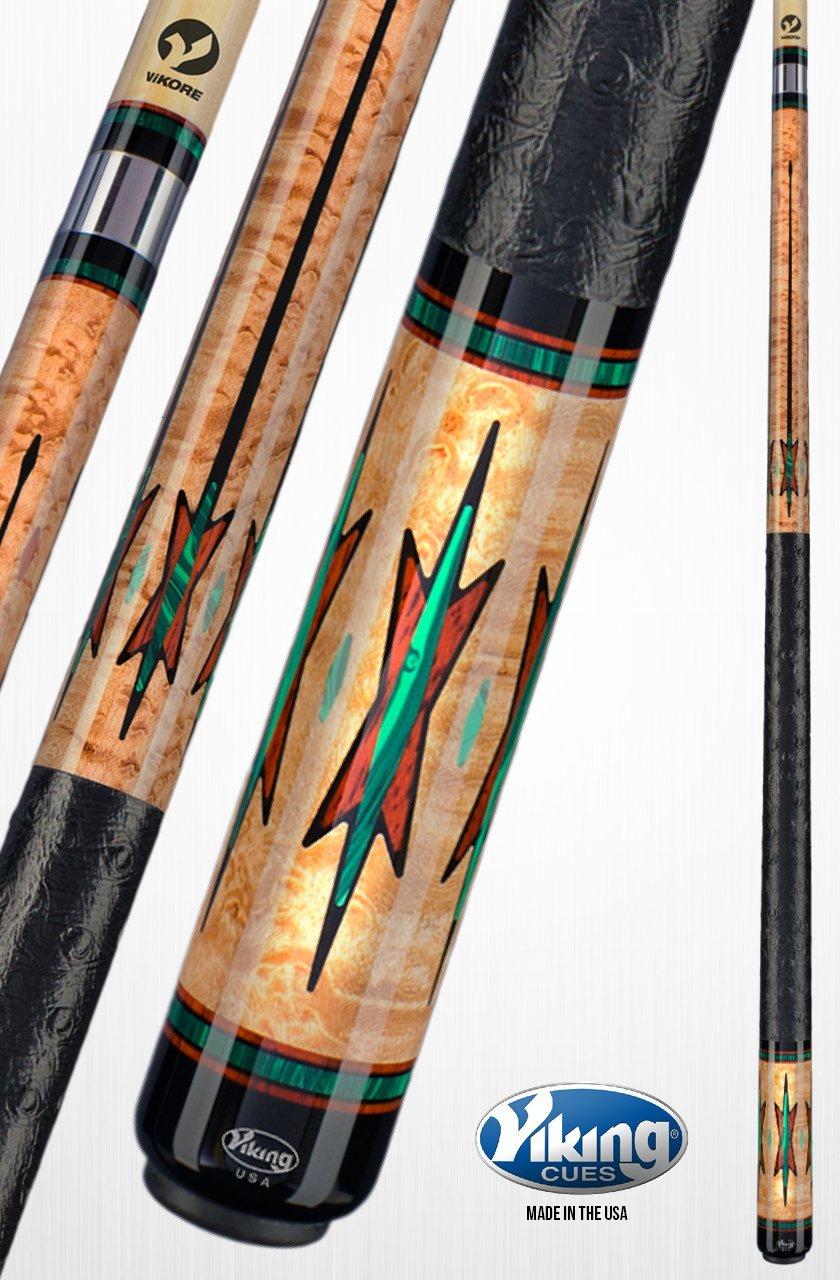 Viking a761プールキュースティック55 New Guinea Vermillion、ブラック( Ima ) &マラカイトInlays &リングPremium Birdseye Mapleクイックリリースジョイントvikoreシャフト18、18.5、19、19.5、20、20.5、21オンス B06XYJ8TCP  18.5 オンス