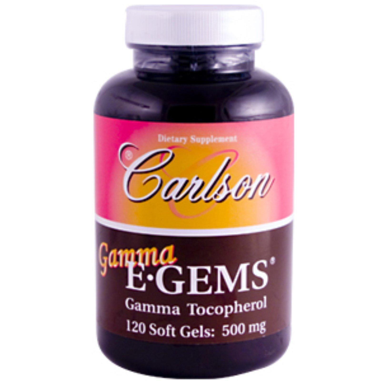 Carlson Labs Gamma E-Gems, Gamma Tocopherol, 465mg, 120 softgels