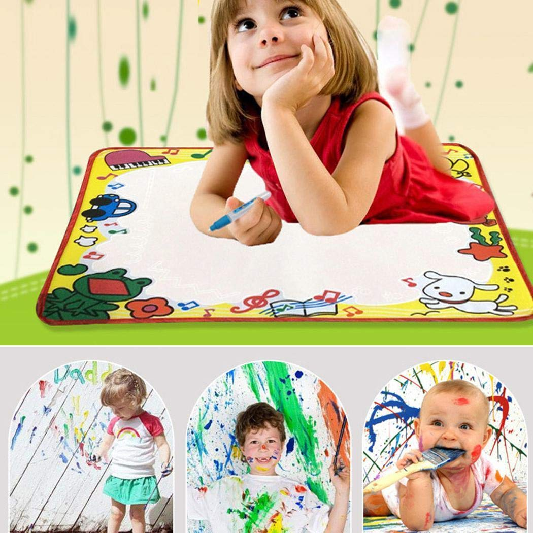 Xabern Water Doodle Mat,Children Painting Writing Doodle Cloth Toy Drawing Mat Educational Toys Drawing & Sketch Pads