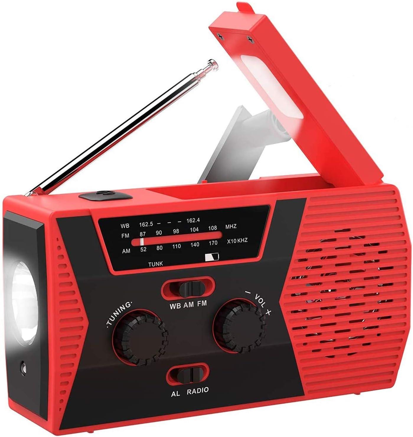 SYIHLON Emergency Solar Hand Crank Portable Radio