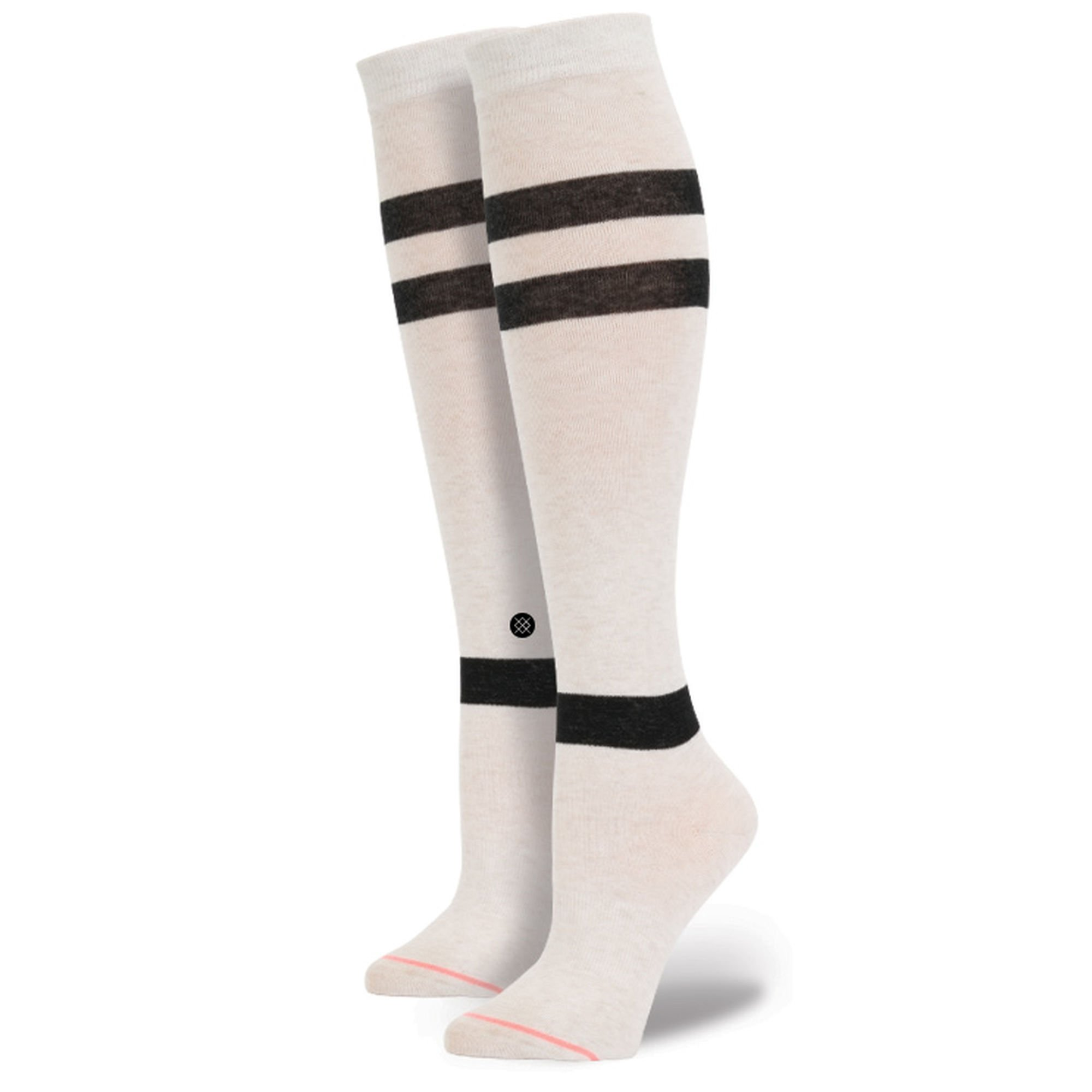 STANCE Women's Tall Gamer Boot Socks, Silver Heather, One Size