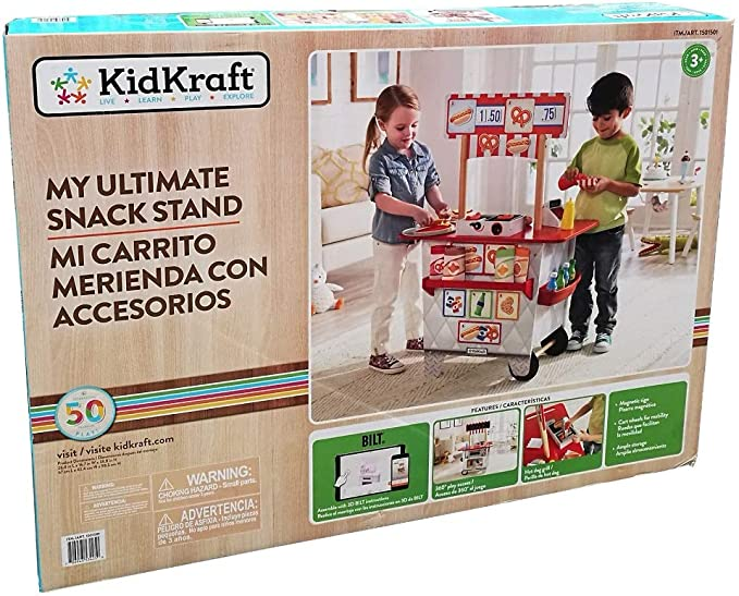 KidKraft My Ultimate Snack Hotdog Stand Pizza Oven 54 Accessories Boys Girls Toy