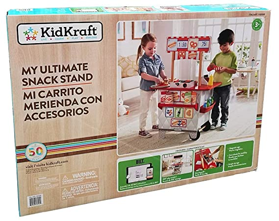 Amazon.com: KidKraft My Ultimate Snack Stand with Over 54 Accessories: Toys & Games