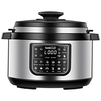 Geek Chef 8 Quart OVAL Shape Multi Functional Electric Pressure CookerNew Technology