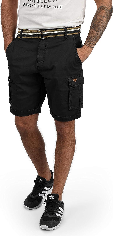 Blend Brian Pantalón Cargo Bermudas Pantalones Cortos para Hombres con Cinturón Regular