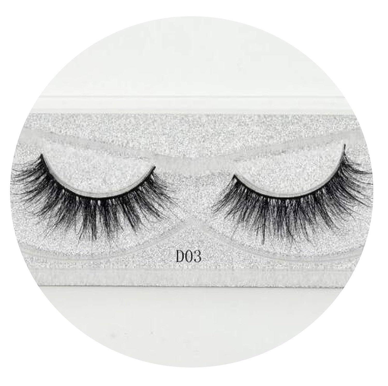 0660511da29 Amazon.com : Eyelashes 3D Silk Eyelashes Hand Made Natural Long Faux Mink  Lashes Vegan Cruelty Free False Lashes Maquiagem Makeup, D03 : Beauty