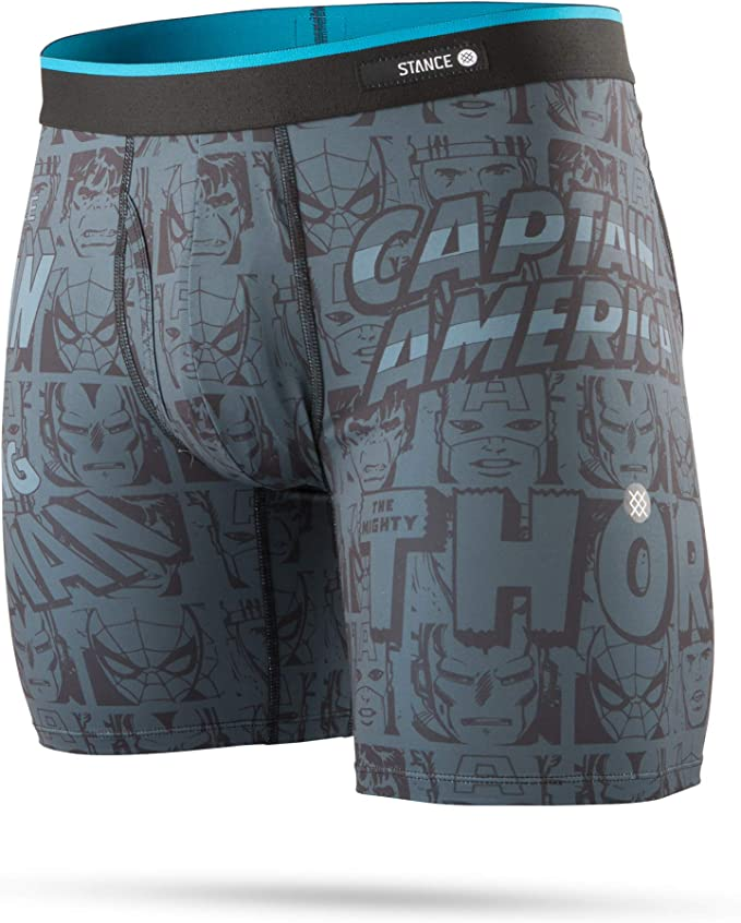 Stance Calzoncillos Boxer Marvel Negro (S, Negro)