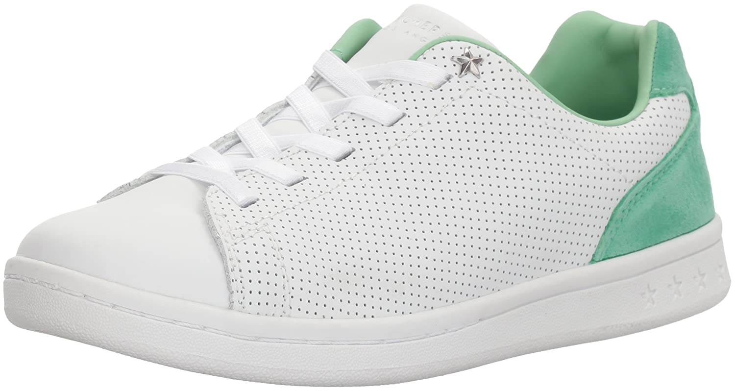 Skechers Women's Darma-Perforated Leather Sneaker B0742SH7VK 7 B(M) US|White Mint