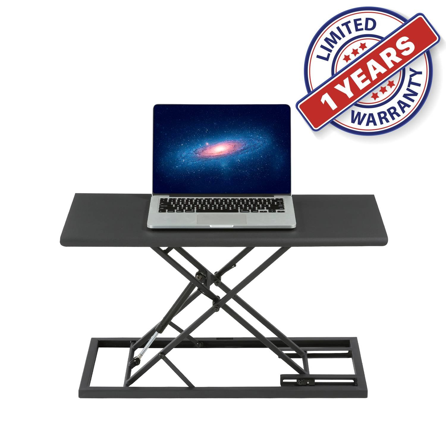 Light Weight Portable Work Station Standing Desk with Ultra Thin Design and Adjustable Height for Carry On Laptop Mobile Office