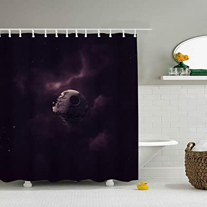 Image Unavailable Not Available For Color TRSL Death Star Shower Curtain