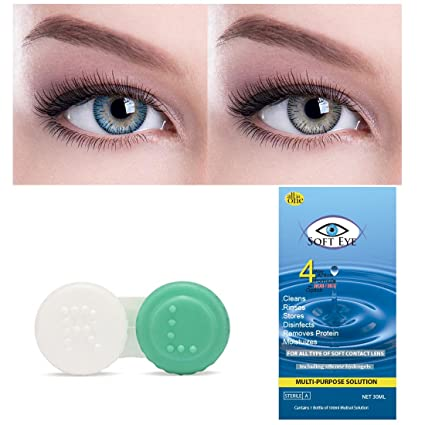 ee2f4ed1fd7 Buy Soft Eye Blue-Grey Monthly Color Contact Lens (Zero Power