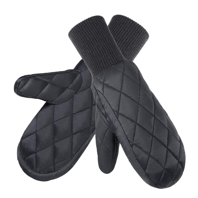 Fazitrip Handschuhe Damen Fäustlinge Skihandschuhe Schi Handschuhe Snowboard Winter Sporthandschuhe Fausthandschuhe mit 9010 Entendaunen
