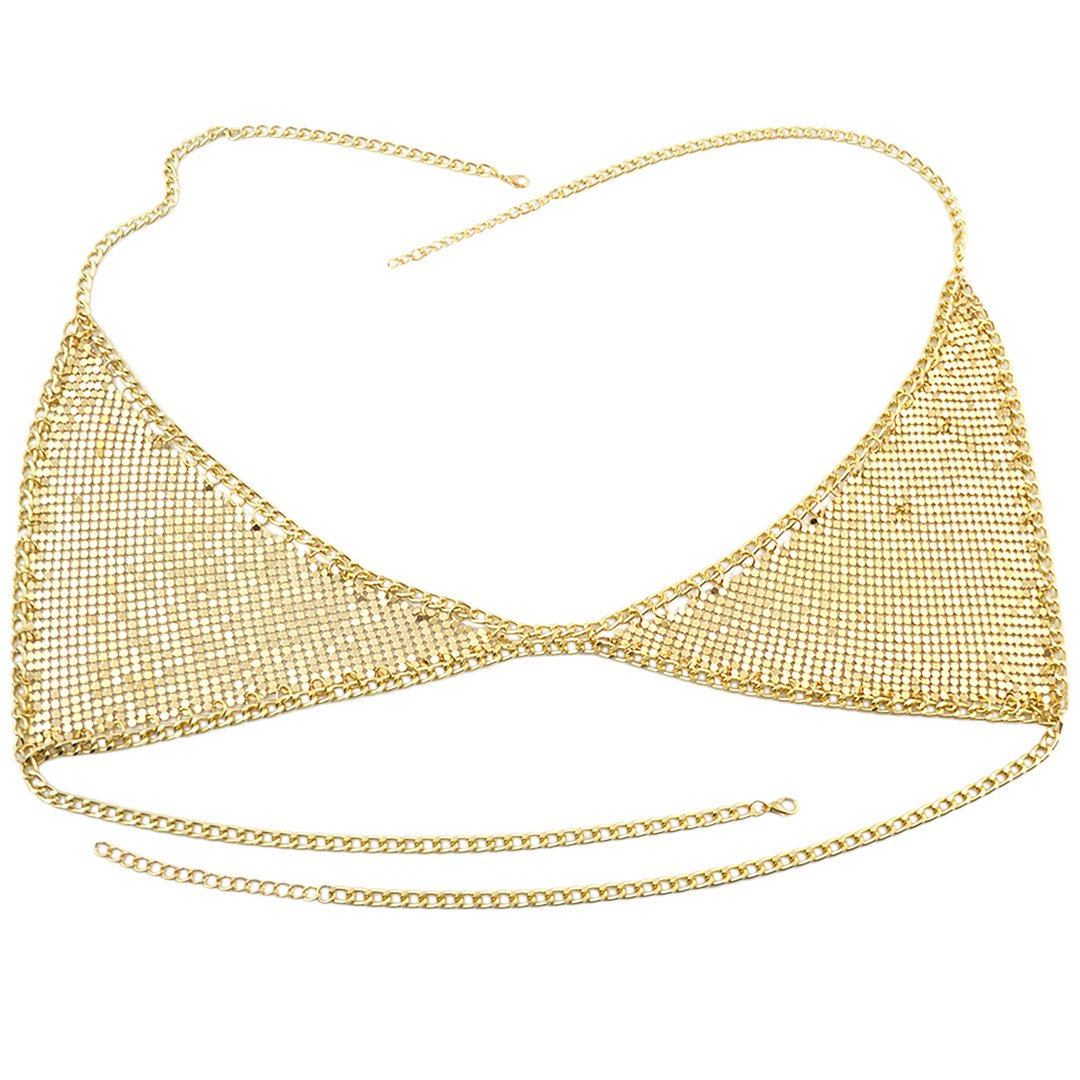 gold00507 Hoohu Womens Hot Sexy Beach Party Club Bikini Backless Camisole Adjustable Body Chain