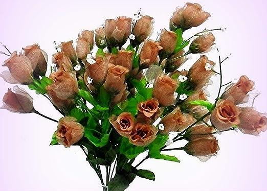 70 Mini Roses Buds  Light Blue  Silk Wedding Flowers Centerpieces Bridal Bouquet