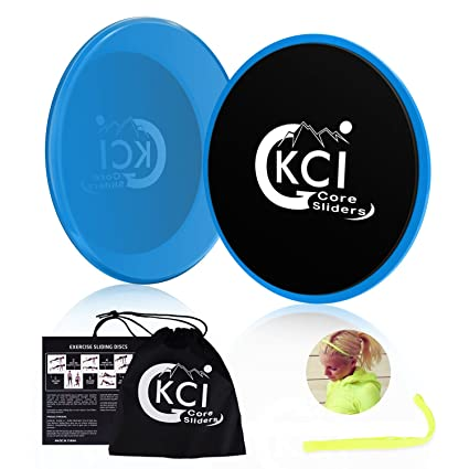 6cf48322702d GKCI Core Sliders Gliding Discs Workout Exercise Sliders Fitness with Sports  Headband and Washable Bag (