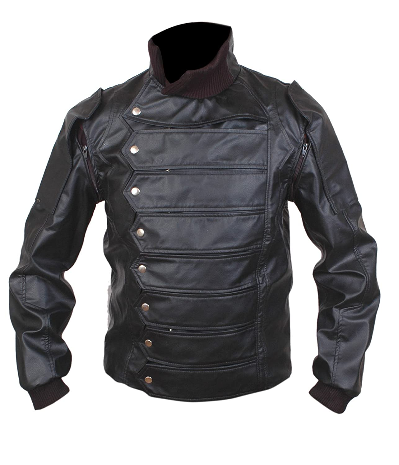 Leather jacket cost - Low Cost Captain America The Winter Soldier Bucky Barnes Leather Jacket