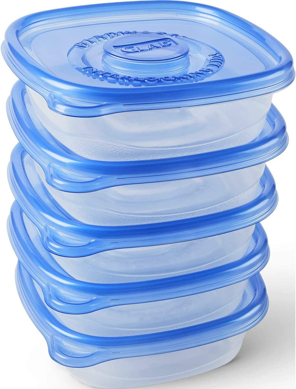 Glad Food Storage Containers - Entree Container - 25 Ounce - 5 Count (Pack of 6)