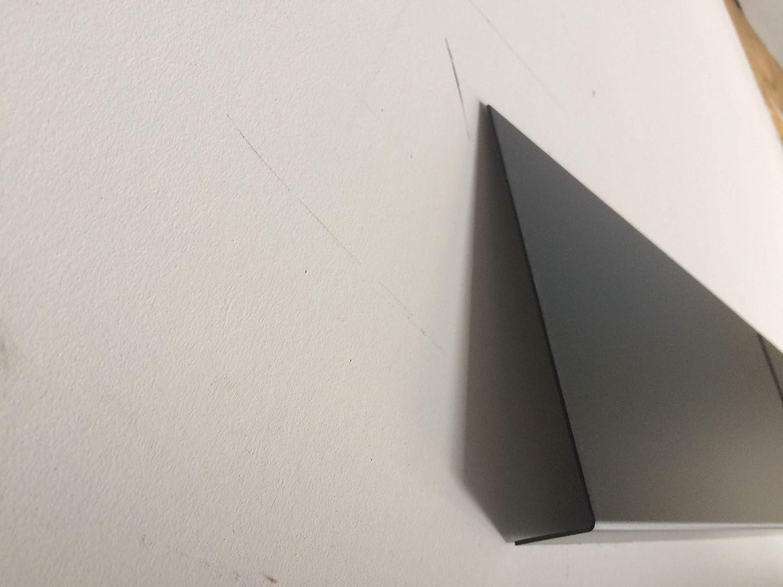 Bandeau de Rive Alu Gris Anthracite ep 1 mm 17 tailles Hauteur 12 cm Retour 3 cm x
