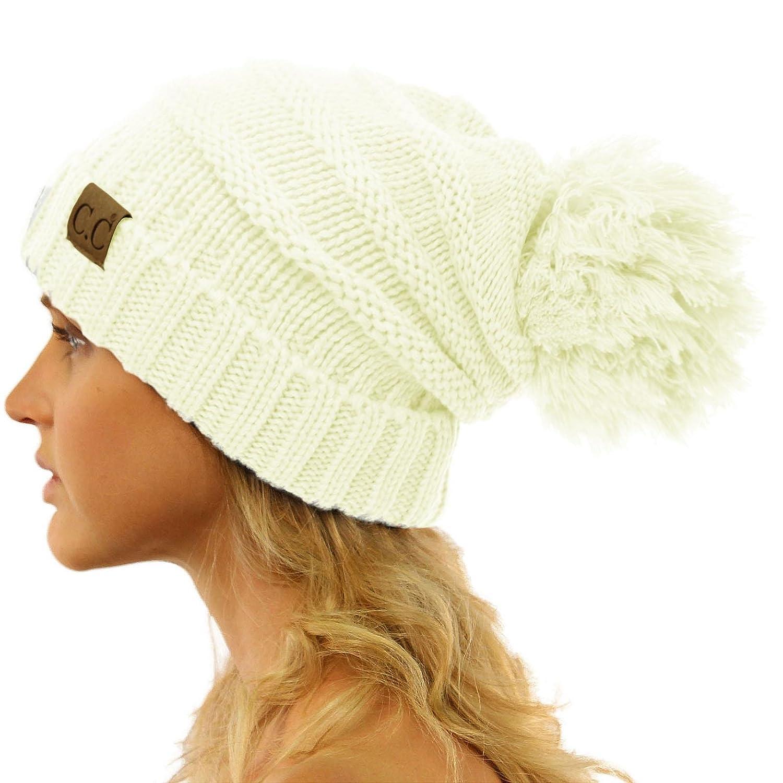 406ffd5a13021 ... CC Oversized Super Big Slouchy Pom Pom Warm Chunky Stretchy Knit Beanie  Hat SK Hat Shop