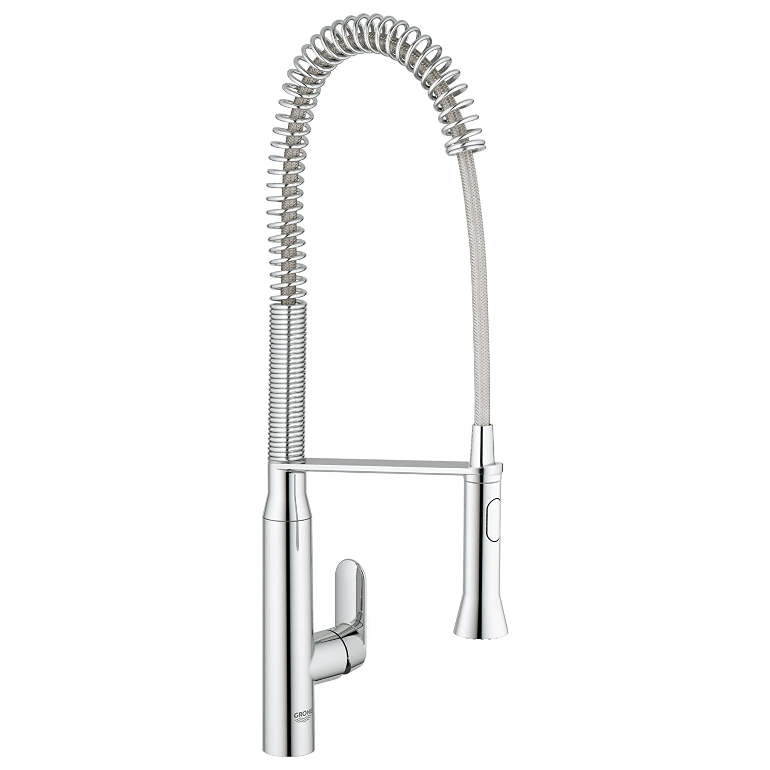 Grohe 32951000 K7 Semi Pro Single Handle Pull Out Kitchen Faucet, Starlight  Chrome   Touch On Kitchen Sink Faucets   Amazon.com