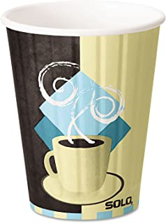product image for SOLO Cup Company Duo Shield Hot Insulated 12 oz Paper Cups, Beige, 600 Per Carton