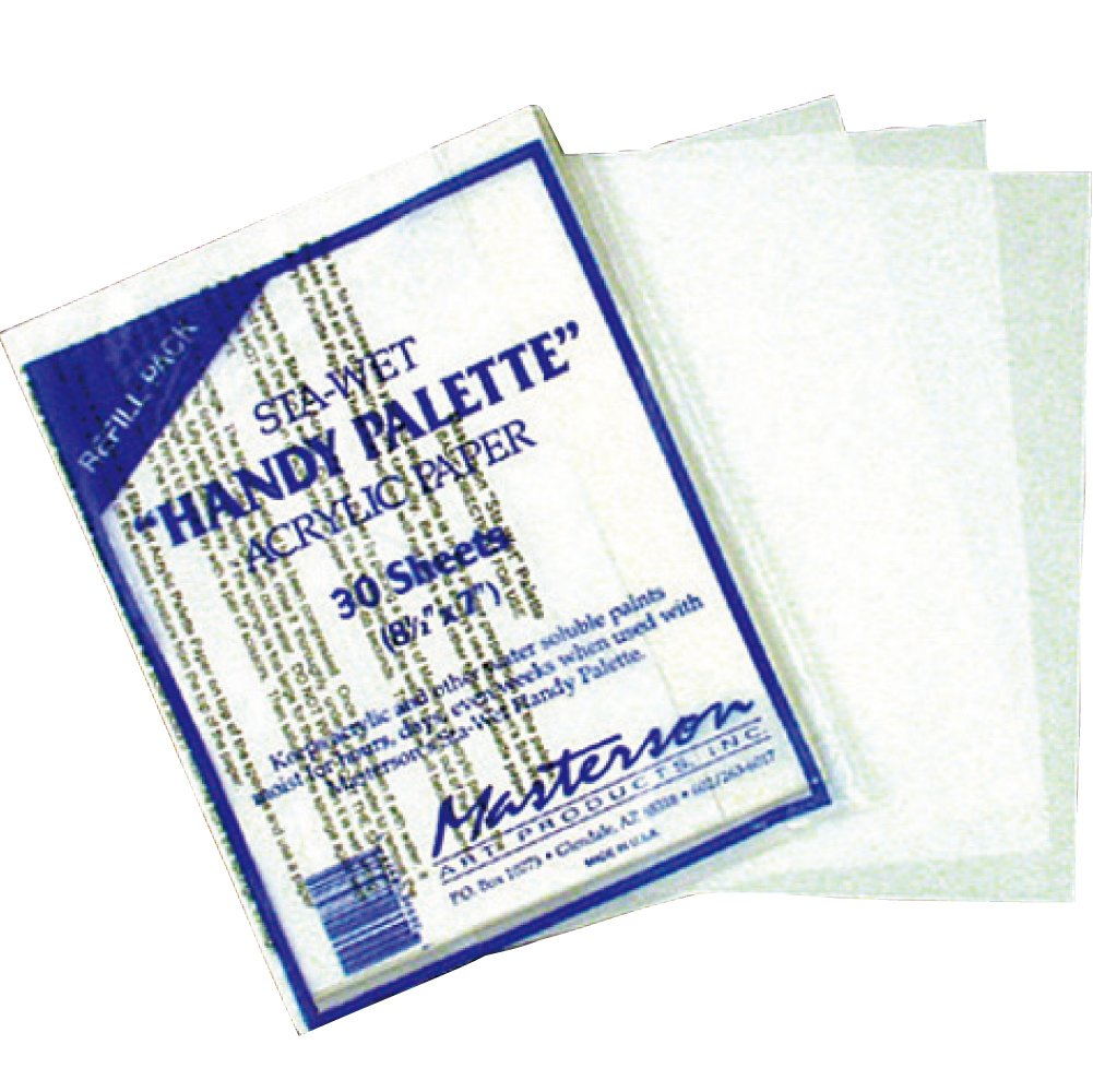 Masterson Sta-Wet Handy Palette pack of 30 handy palette acrylic paper 8 1/2 in. x 7 in. (japan import) 11000003 BA00711069-001