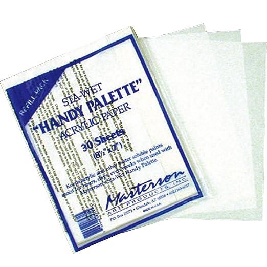 Masterson Sta-Wet Handy Palette pack of 30 handy palette ...