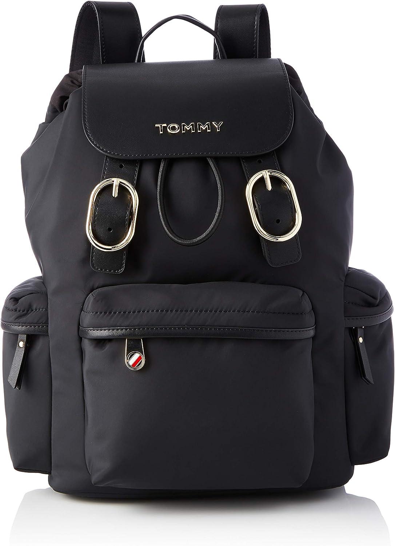 Tommy Hilfiger Recycled Nylon Backpack, Bolsas. para Mujer, Talla única