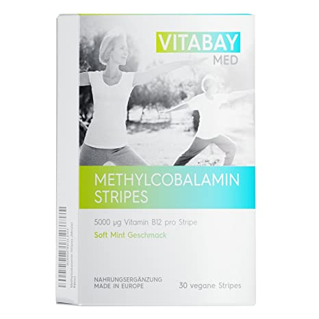 Methylcobalamin Stripes - 30 Vegan Stripes - 5000 ?g de vitamina B12 por Stripe (