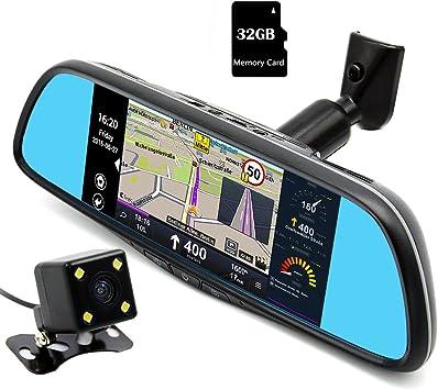 Junsun Navegador GPS Android para Coche Espejo Retrovisor y ...