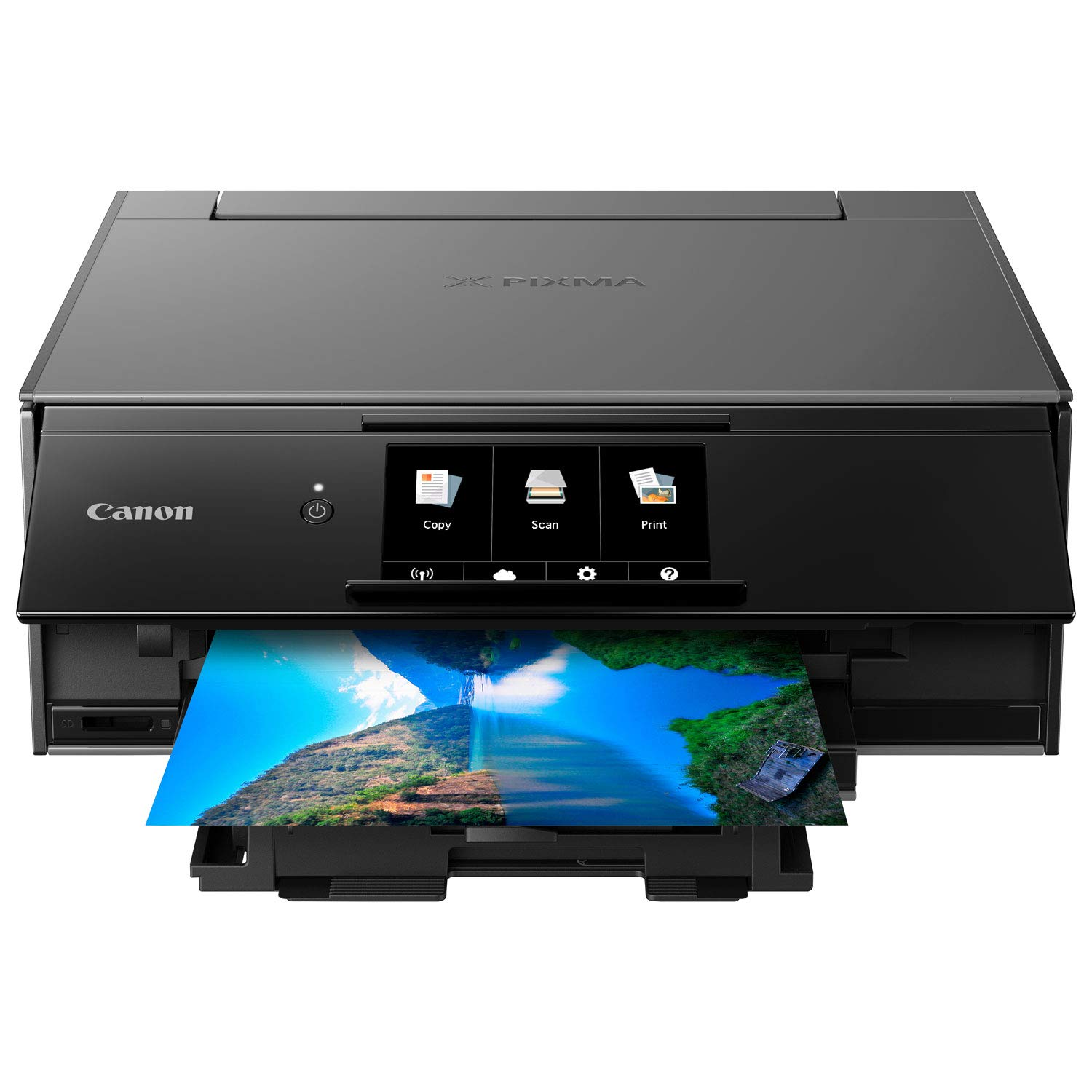 Canon Office and Business Wireless All in one Printer with Bluetooth, Wi-Fi, air Print and Google Cloud Print Compatible Mobile Tablet with Scanner, Copier and CD Printer with Set of Ink by Canon (Image #2)