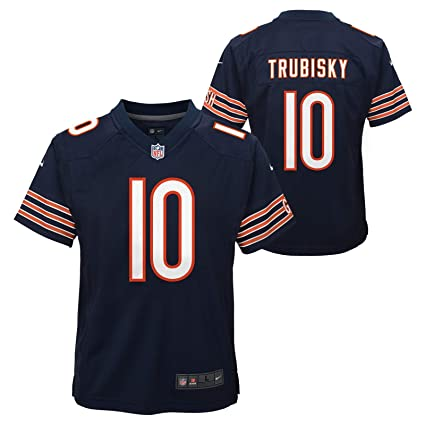purchase cheap 65005 740f6 Nike Mitchell Trubisky Chicago Bears NFL Youth Navy Blue Game Jersey