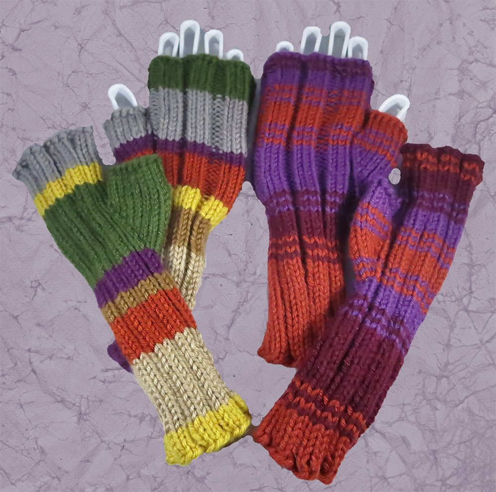 Doctor Who Inspired 4th Doctor Scarf Wrist Warmers Washable