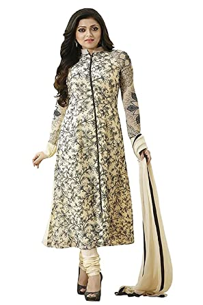 ea80ac8c86358 Lady Loop Women's Clothing Designer Party Wear buy online Red Color Crepe  Fabric Free Size Salwar Kameez Dress Material Today Best Offers Sale:  Amazon.in: ...