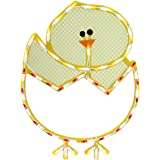 """Northlight  Lighted Hatching Baby Chick in Egg Easter Window Silhouette Decoration, 17"""""""