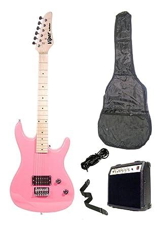 39 pulgadas rosa guitarra eléctrica y 10 W amplificador Pack & bolsa de transporte y accesorios
