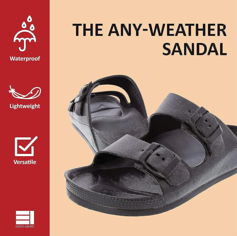 12eec6f7f04 Exotic Identity Sandal for Women, Waterproof, Slip On, EVA Material, Odor  Resistant, Lightweight, Comfortable Support, Shock Absorbing, Adjustable ...