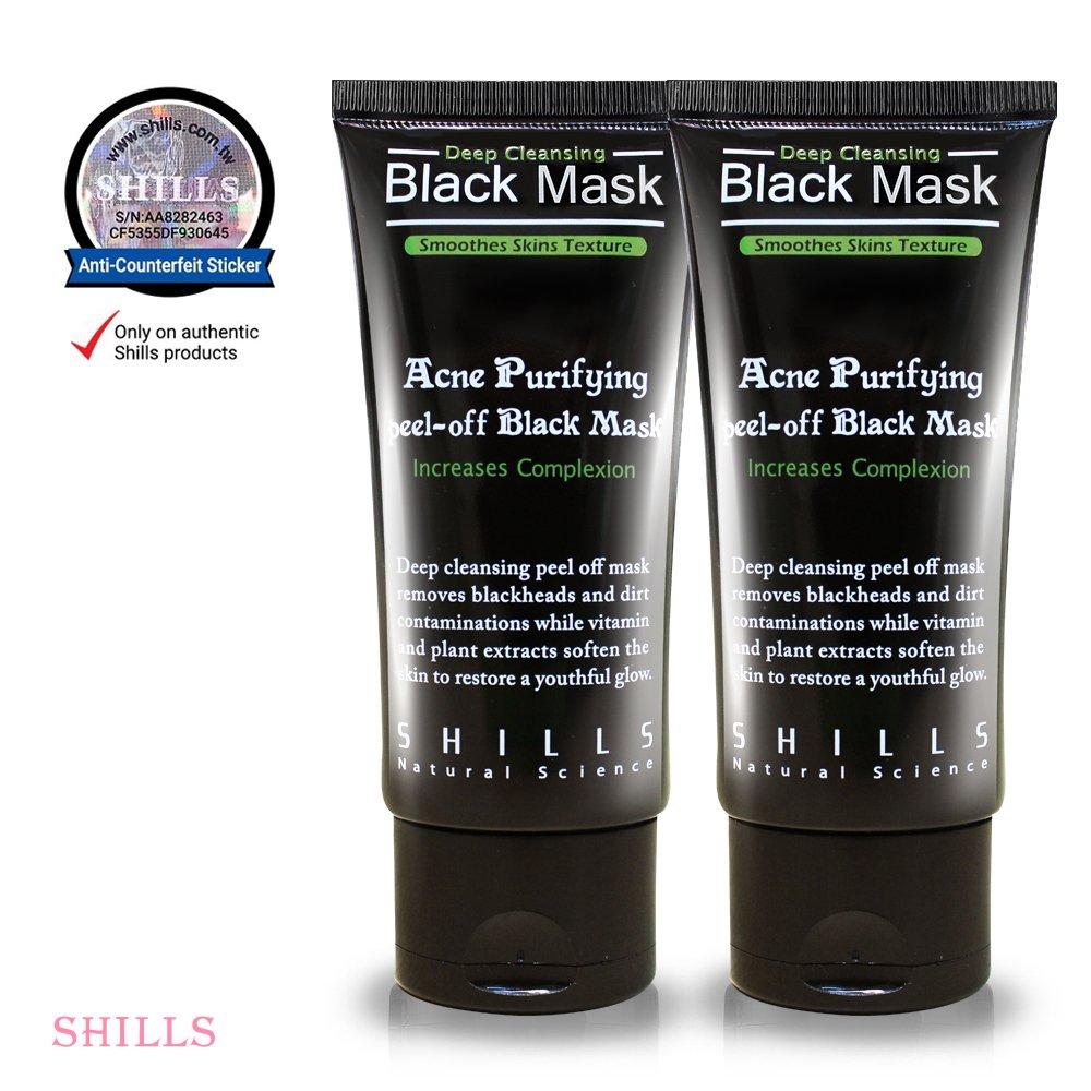 SHILLS Black Mask, Peel Off Mask,Blackhead Remover Mask,Charcoal Mask, Blackhead Peel Off Mask (DUO)